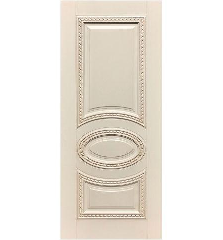 фото: Дверь ДП Лацио, эмалит № 32, патина персик