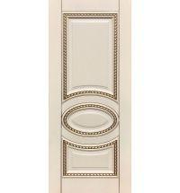 фото: Дверь ДП Лацио, эмалит № 32, патина золото-G