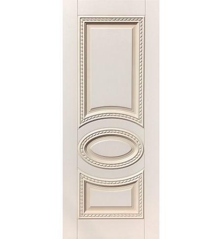 фото: Дверь ДП Лацио, эмалит № 31, патина персик