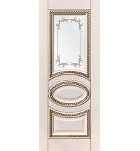 фото: Дверь ДП Лацио, эмалит № 31, патина золото-G, стекло сатинат фотопечать рис. 1