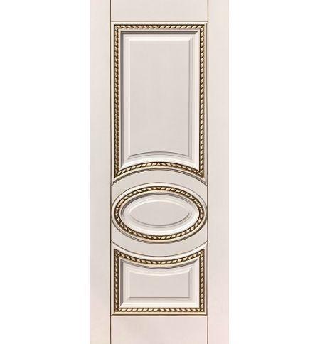 фото: Дверь ДП Лацио, эмалит № 31, патина золото-G