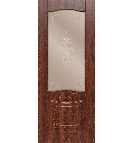 фото: Дверь ДП Дубрава-1, ПВХ № 2, стекло сатинат бронза наплыв прозрачный рис. 1