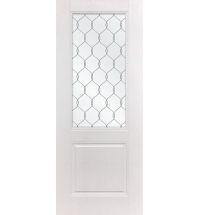 фото: Дверь ДП Гранд-1, ПВХ № 11, стекло сатинат гравировка рис. 1
