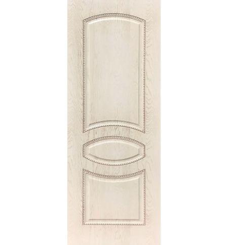 фото: Дверь ДП Танго-3, ПВХ № 12, патина слоновая кость