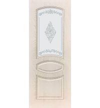 фото: Дверь ДП Танго-3, ПВХ № 12, патина капучино, стекло матовое с рис. 2 2-е матирование