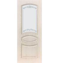 фото: Дверь ДП Танго-3, ПВХ № 12, патина капучино, стекло матовое с рис. 1 2-е матирование