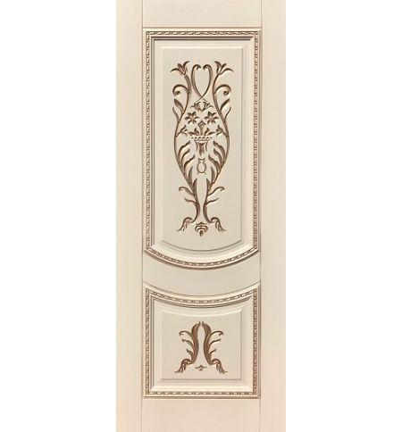 фото: Дверь ДП Сицилия, эмалит № 33, патина золото-G