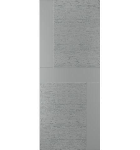 фото: Дверь Техно-2, шпон натур. дуб тон Светло-серый