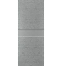 фото: Дверь Техно-1, шпон натур. дуб тон Серый