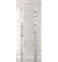 фото: Дверь Сити-2, шпон натуральный дуб тон капучино, стекло лакобель белое