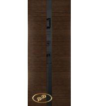 фото: Дверь Сити-1, шпон натуральный дуб тон каштан, стекло лакобель черное рис.2, гравировка