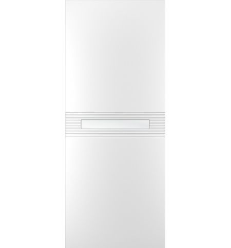 фото: Дверь Лайн-3, тон Белый, стекло сатинат