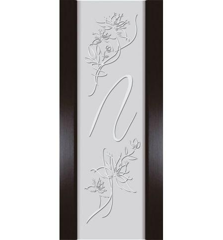 фото: Дверь Палермо зеркало/стекло белый триплекс рис.4 мореный дуб