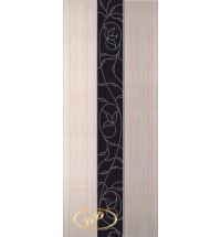 фото: Дверь Натали, шпон беленый дуб, стекло лакобель черное рис.4