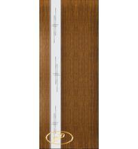 фото: Дверь Натали-1, шпон орех, зеркало гравировка