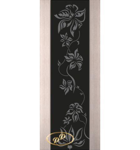 фото: Дверь Палермо, шпон беленый дуб, стекло черный триплекс рис.15