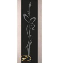 фото: Дверь Палермо, шпон беленый дуб, стекло черный триплекс рис.14