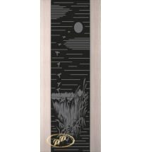 фото: Дверь Палермо, шпон беленый дуб, стекло черный триплекс рис.13