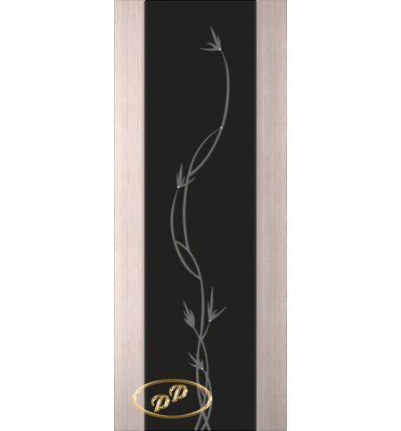 фото: Дверь Палермо, шпон беленый дуб, стекло черный триплекс рис.12