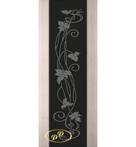фото: Дверь Палермо, шпон беленый дуб, стекло черный триплекс рис.11