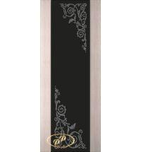 фото: Дверь Палермо, шпон беленый дуб, стекло черный триплекс рис.10