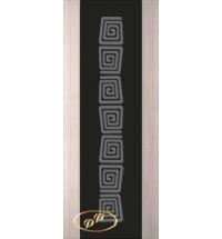 фото: Дверь Палермо, шпон беленый дуб, стекло черный триплекс рис.1