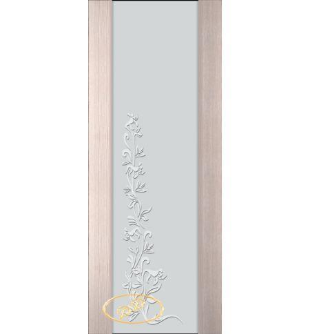 фото: Дверь Палермо, шпон беленый дуб, стекло белый триплекс рис.8