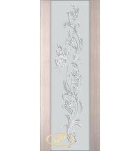 фото: Дверь Палермо, шпон беленый дуб, стекло белый триплекс рис.7