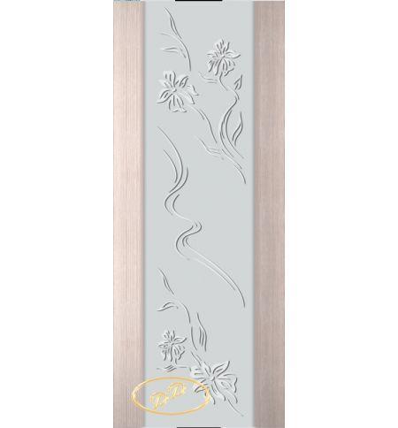 фото: Дверь Палермо, шпон беленый дуб, стекло белый триплекс рис.6