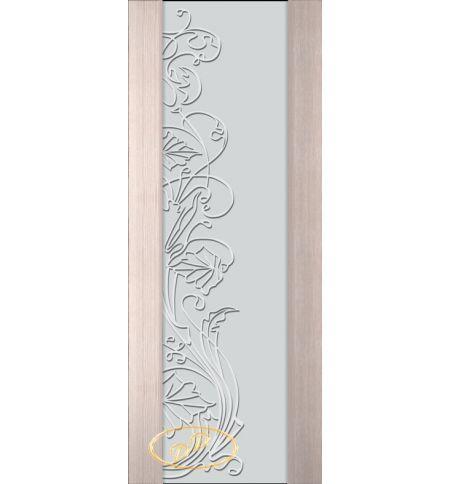 фото: Дверь Палермо, шпон беленый дуб, стекло белый триплекс рис.5