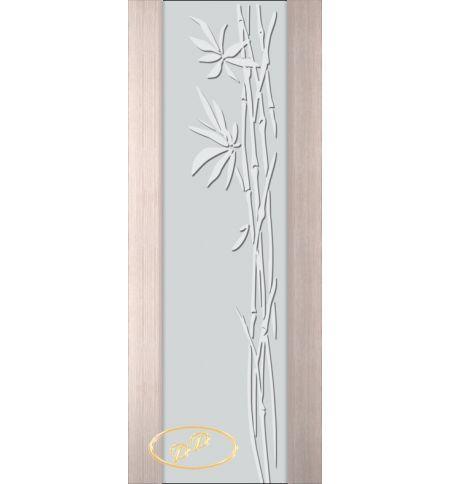 фото: Дверь Палермо, шпон беленый дуб, стекло белый триплекс рис.29