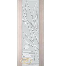 фото: Дверь Палермо, шпон беленый дуб, стекло белый триплекс рис.28