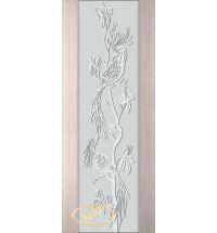фото: Дверь Палермо, шпон беленый дуб, стекло белый триплекс рис.26