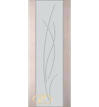 фото: Дверь Палермо, шпон беленый дуб, стекло белый триплекс рис.25
