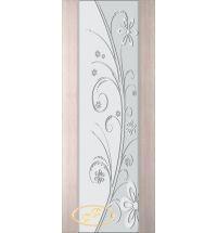 фото: Дверь Палермо, шпон беленый дуб, стекло белый триплекс рис.24