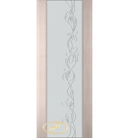 фото: Дверь Палермо, шпон беленый дуб, стекло белый триплекс рис.22