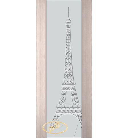 фото: Дверь Палермо, шпон беленый дуб, стекло белый триплекс рис.21