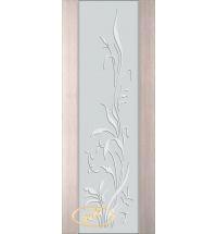 фото: Дверь Палермо, шпон беленый дуб, стекло белый триплекс рис.20