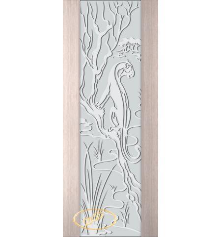фото: Дверь Палермо, шпон беленый дуб, стекло белый триплекс рис.2