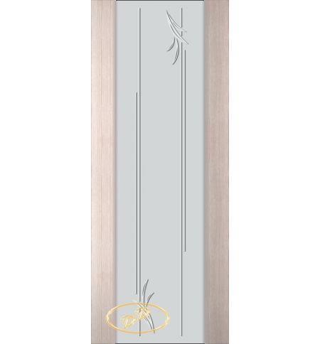 фото: Дверь Палермо, шпон беленый дуб, стекло белый триплекс рис.19