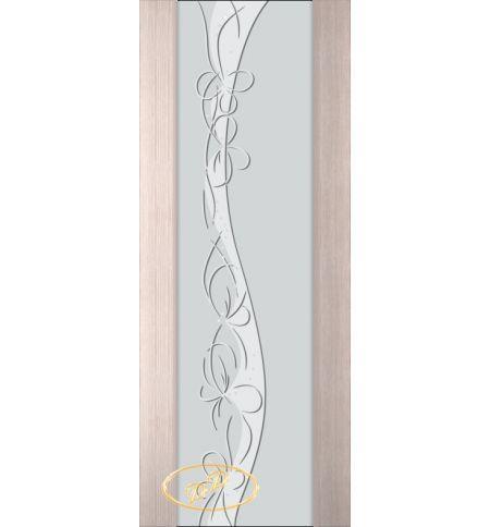 фото: Дверь Палермо, шпон беленый дуб, стекло белый триплекс рис.17