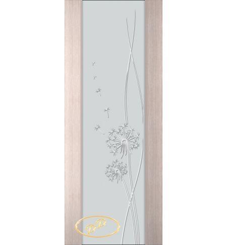 фото: Дверь Палермо, шпон беленый дуб, стекло белый триплекс рис.16