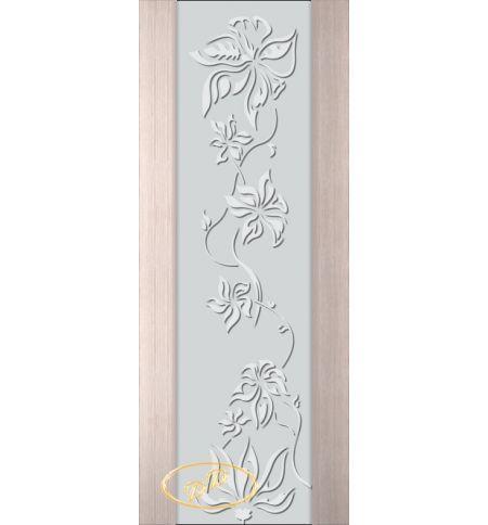 фото: Дверь Палермо, шпон беленый дуб, стекло белый триплекс рис.15