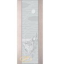 фото: Дверь Палермо, шпон беленый дуб, стекло белый триплекс рис.13