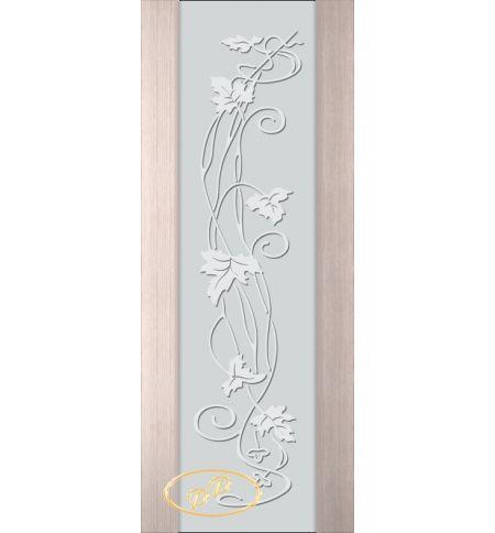 фото: Дверь Палермо, шпон беленый дуб, стекло белый триплекс рис.11