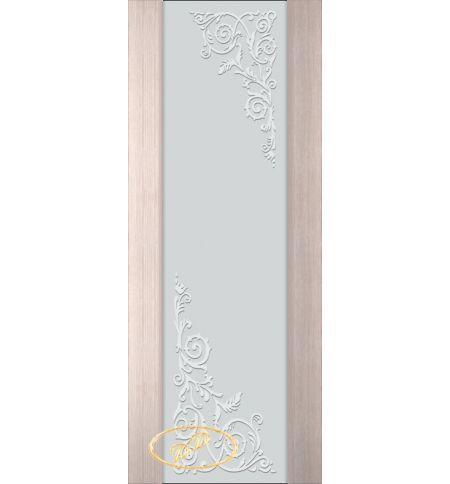 фото: Дверь Палермо, шпон беленый дуб, стекло белый триплекс рис.10