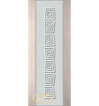 фото: Дверь Палермо, шпон беленый дуб, стекло белый триплекс рис.1