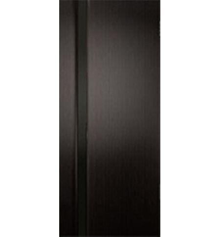 фото: Дверь межкомнатная 2-Палермо, шпон мореный дуб, стекло черный триплекс