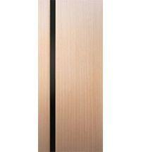 фото: 2-Палермо, шпон беленый дуб, стекло черный триплекс