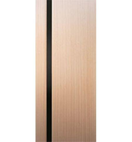 фото: Дверь 2-Палермо, шпон беленый дуб, стекло черный триплекс